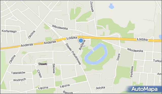 Toruń, Bociana, mapa Torunia