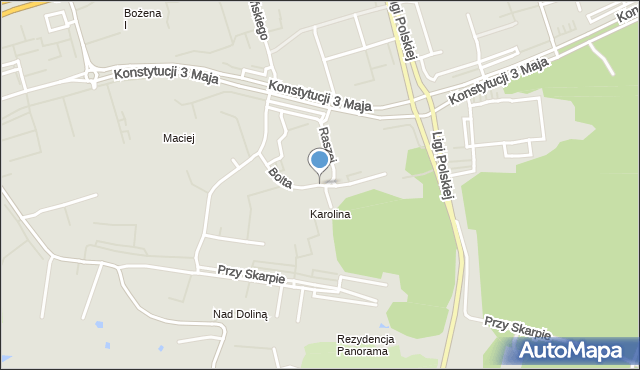 Toruń, Bolta Antoniego, mapa Torunia