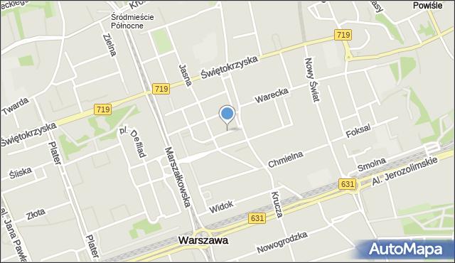 Warszawa, Boduena Gabriela Piotra, mapa Warszawy