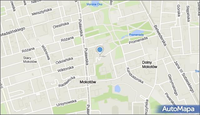 Warszawa, Boryszewska, mapa Warszawy