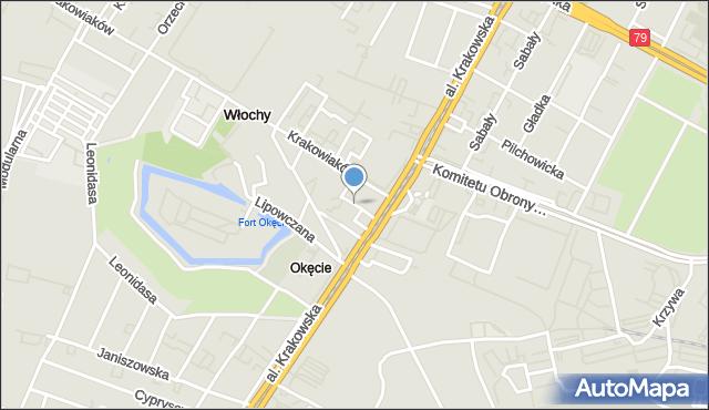 Warszawa, Boryny, mapa Warszawy