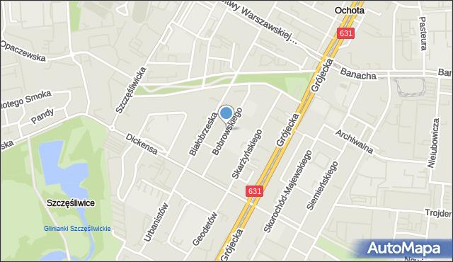 Warszawa, Bobrowskiego Stefana, mapa Warszawy