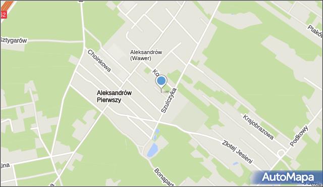 Warszawa, Borówkowa, mapa Warszawy