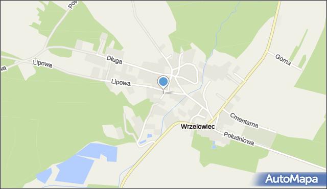 Wrzelowiec, Boczna, mapa Wrzelowiec
