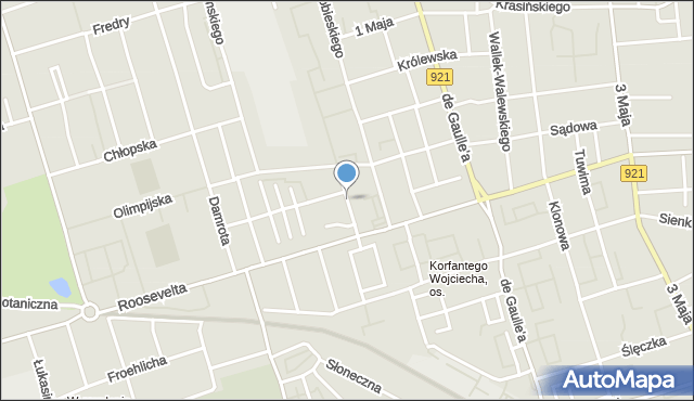 Zabrze, Bolesława Śmiałego, mapa Zabrza