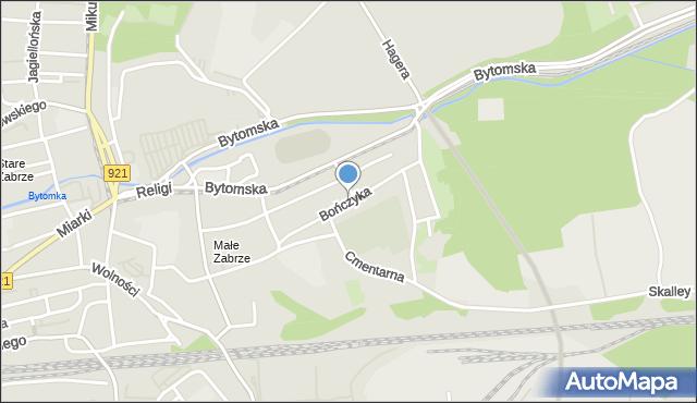 Zabrze, Bończyka Norberta, ks., mapa Zabrza