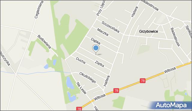 Zabrze, Bora-Komorowskiego Tadeusza, gen., mapa Zabrza