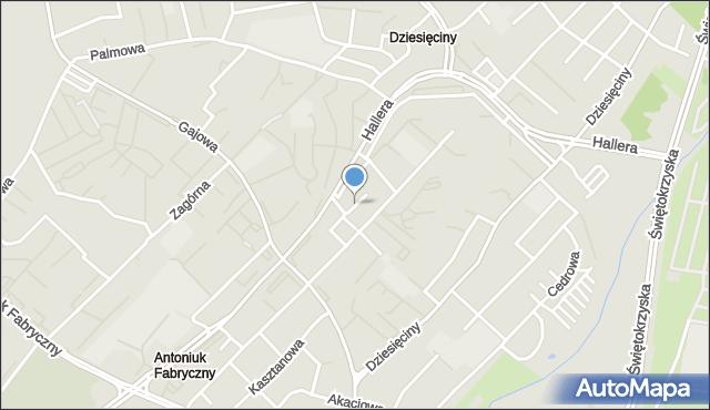 Białystok, Brzozowa, mapa Białegostoku