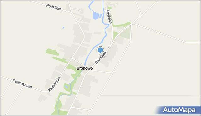 Bronowo gmina Wizna, Bronowo, mapa Bronowo gmina Wizna