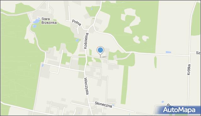Brzezinka Średzka, Brzozowa, mapa Brzezinka Średzka