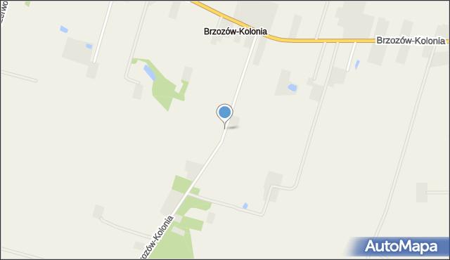Brzozów-Kolonia, Brzozów-Kolonia, mapa Brzozów-Kolonia