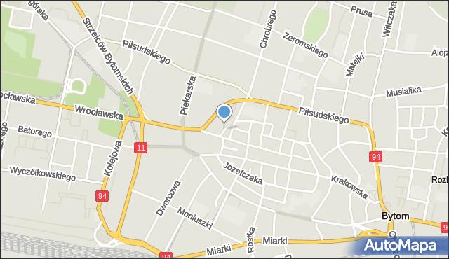 Bytom, Browarniana, mapa Bytomia