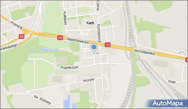 Bytom, Braci Śniadeckich Jana i Jędrzeja, mapa Bytomia