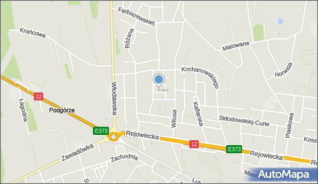 Chełm, Bratkowa, mapa Chełma