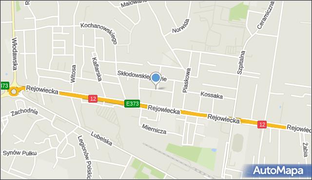 Chełm, Broniewskiego Władysława, mapa Chełma