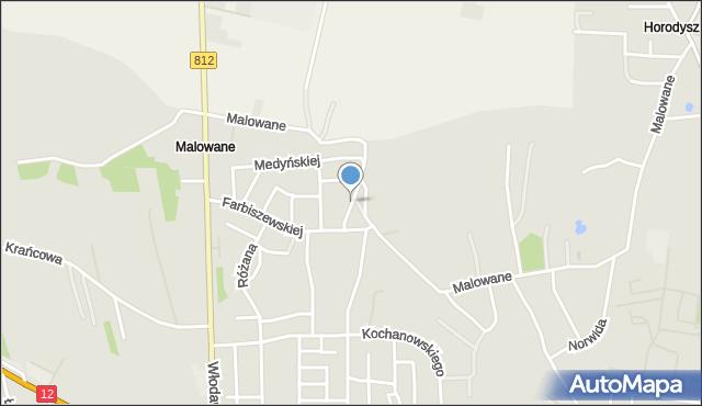 Chełm, Brzozowskiego Stanisława, mapa Chełma