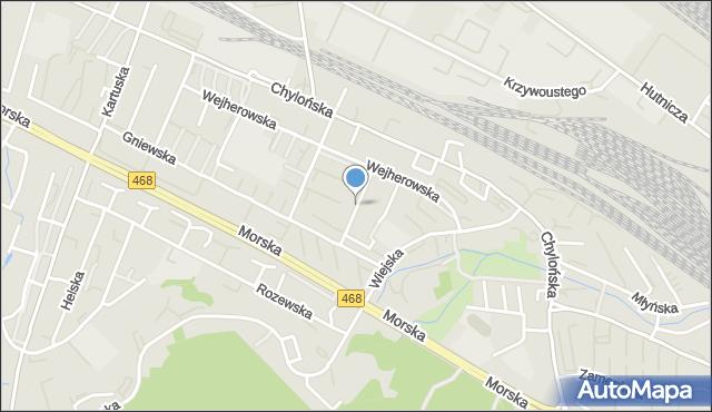 Gdynia, Brodnicka, mapa Gdyni