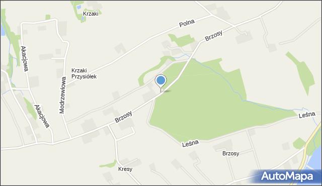 Gierałtowice gmina Wieprz, Brzosy, mapa Gierałtowice gmina Wieprz