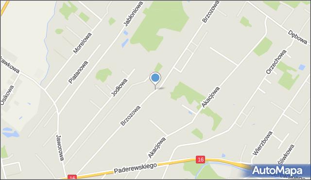 Grudziądz, Brzozowa, mapa Grudziądza