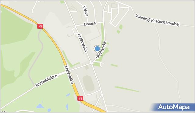 Jaworzno, Braci Gutmanów, mapa Jaworzno