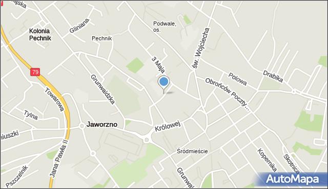 Jaworzno, Broniewskiego Władysława, mapa Jaworzno