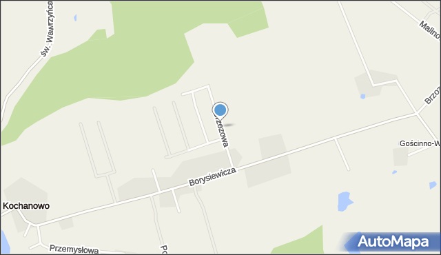 Kochanowo gmina Luzino, Brzozowa, mapa Kochanowo gmina Luzino