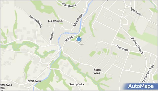 Limanowa, Braci Słupskich, mapa Limanowa