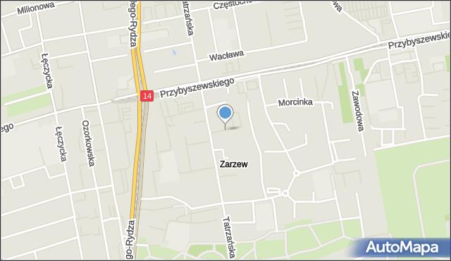 Łódź, Brzechwy Jana, mapa Łodzi