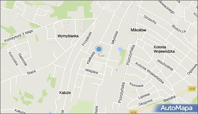 Mikołów, Broniewskiego Władysława, mapa Mikołów