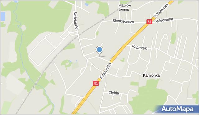 Mikołów, Brzechwy Jana, mapa Mikołów