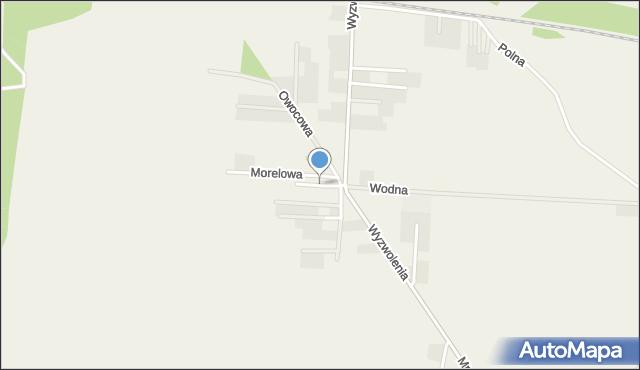 Mrozów, Brzoskwiniowa, mapa Mrozów