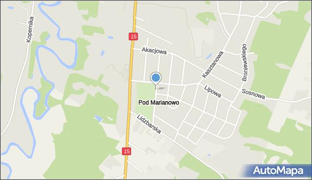 Nowe Miasto Lubawskie, Brzozowa, mapa Nowe Miasto Lubawskie