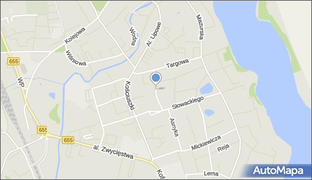 Olecko, Broniewskiego, mapa Olecko