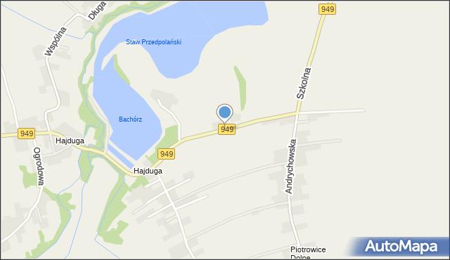Przeciszów, Brzozowa, mapa Przeciszów