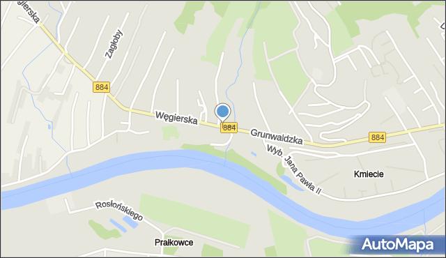 Przemyśl, Browarna, mapa Przemyśla