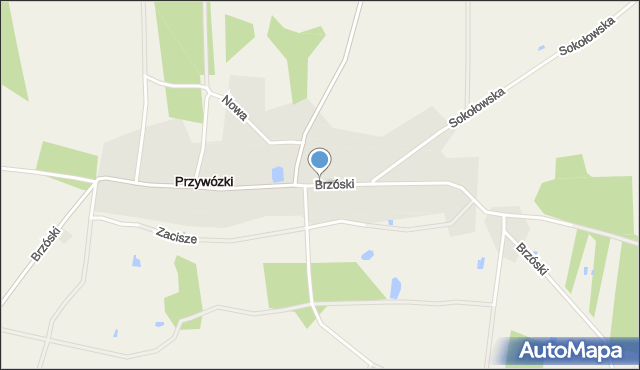 Przywózki, Brzóski Stanisława, ks., mapa Przywózki