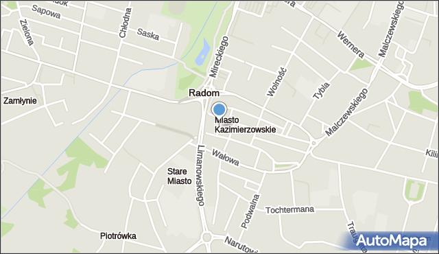 Radom, Brudna, mapa Radomia