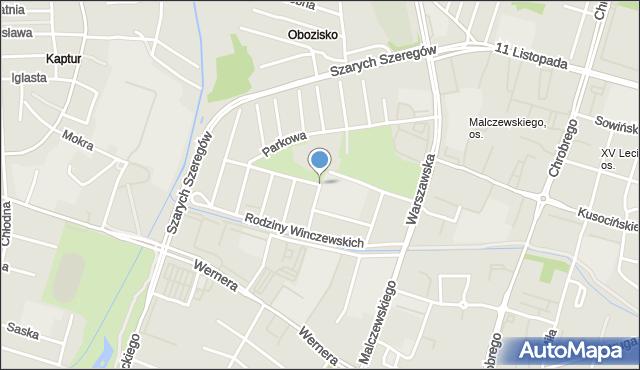 Radom, Braci Śniadeckich Jana i Jędrzeja, mapa Radomia