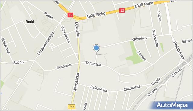 Radom, Broniewskiego Władysława, mapa Radomia