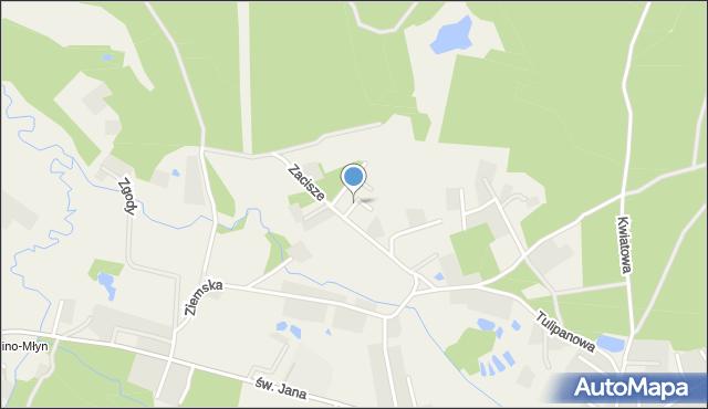 Robakowo gmina Luzino, Brzozowa, mapa Robakowo gmina Luzino