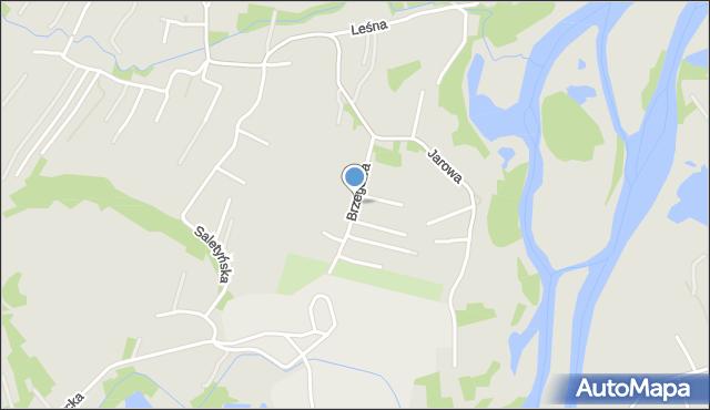 Rzeszów, Brzegowa, mapa Rzeszów
