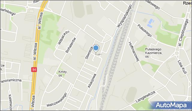 Rzeszów, Brzozowa, mapa Rzeszów