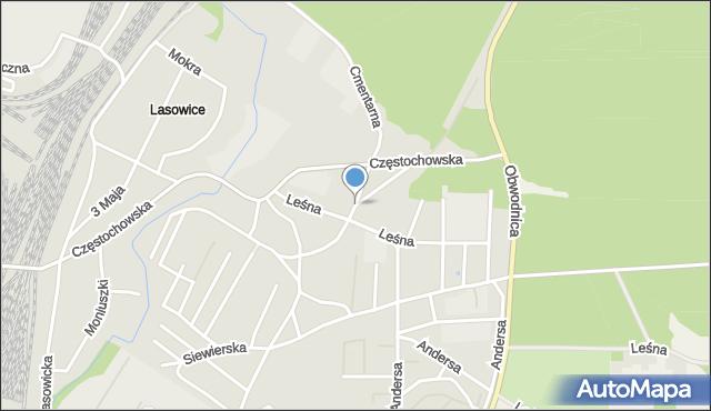Tarnowskie Góry, Broniewskiego Władysława, mapa Tarnowskie Góry