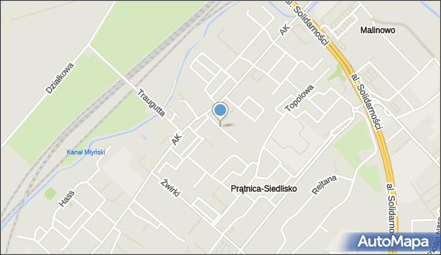 Tczew, Brzozowa, mapa Tczew