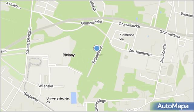 Toruń, Braci Śniadeckich Jana i Jędrzeja, mapa Torunia