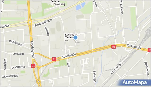 Toruń, Brejskiego Jana, mapa Torunia