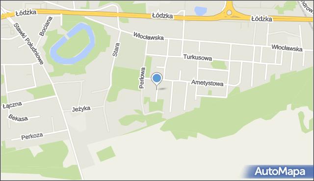 Toruń, Brylantowa, mapa Torunia