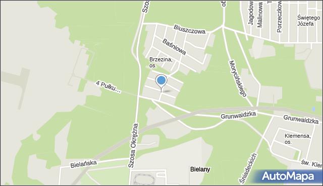 Toruń, Brzechwy Jana, mapa Torunia