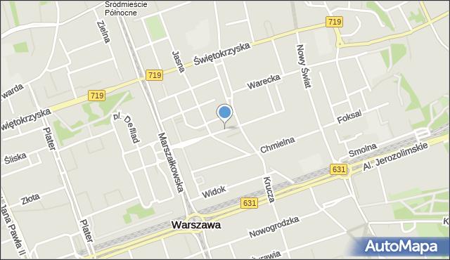 Warszawa, Brokla Kazimierza, mapa Warszawy