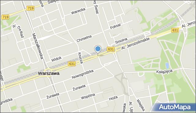 Warszawa, Bracka, mapa Warszawy